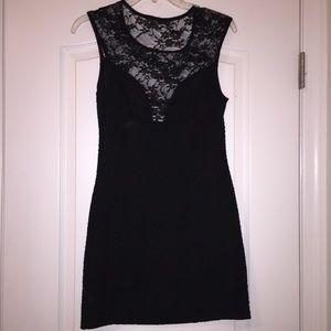 Dresses - Lace cut out little black dress
